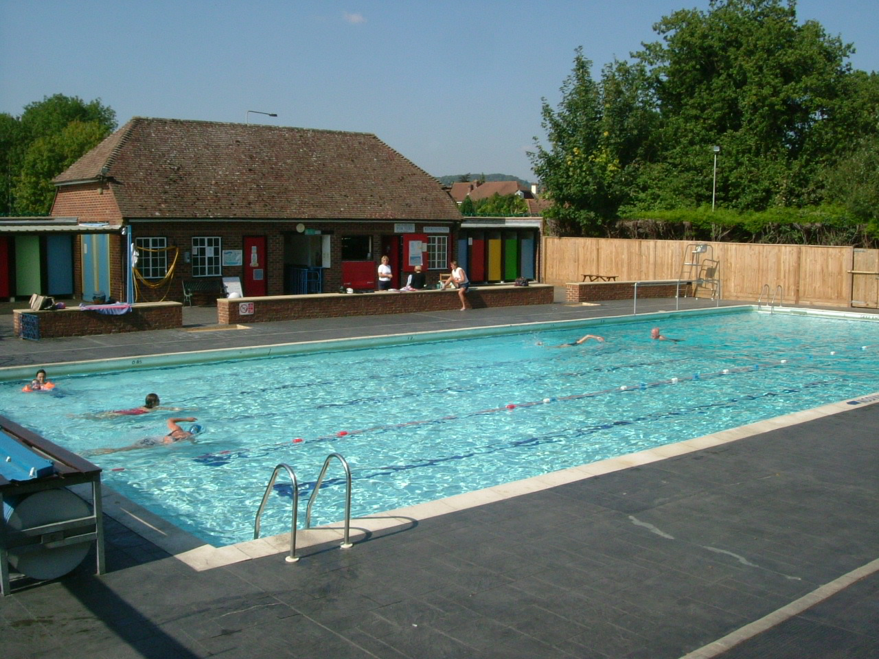 Sunshine and blue water petersfield open air swimming pool - An open air swimming pool crossword clue ...