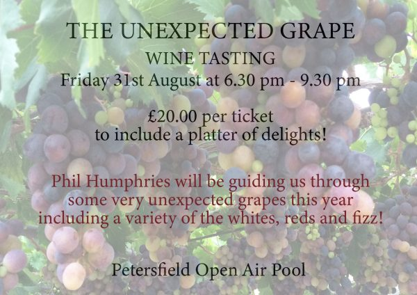 2018 WINE TASTING - THE UNEXPECTED GRAPE - TICKETS FOR SALE